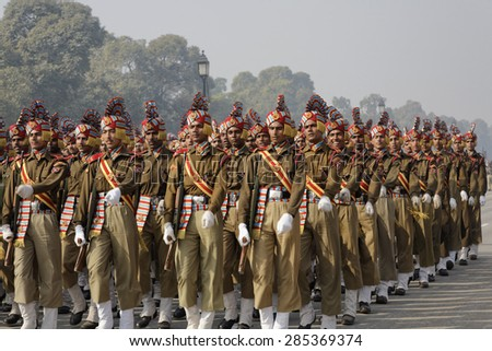 INDIA, Delhi; 20 january 2007, military parade for Indipendence Day - EDITORIAL