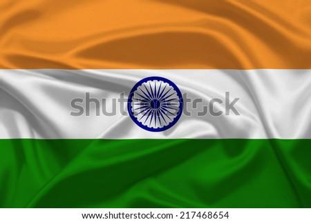 India flag - stock photo
