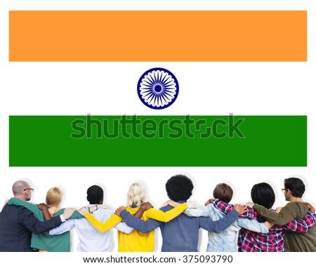 India Flag Patriotism Indian Pride Unity Concept - stock photo
