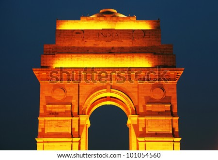 India Gate, New Delhi, India - stock photo