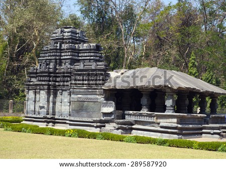 India. Goa. The only remained Mahadev temple the XIII century in Tambdi Surla.