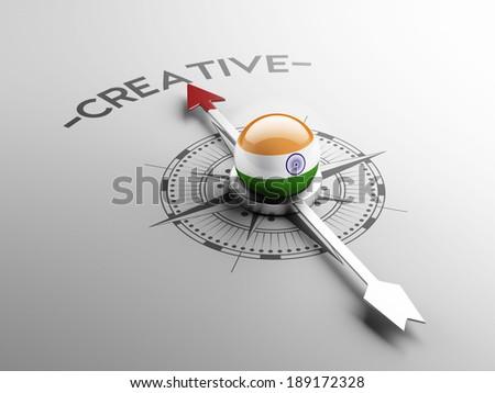 India High Resolution Creative Concept - stock photo