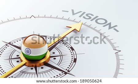 India High Resolution Vision Concept - stock photo