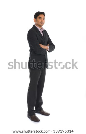 india male with coat side view - stock photo