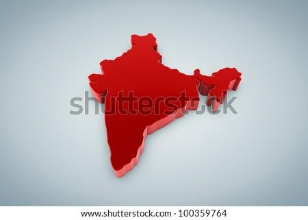 India Map - stock photo