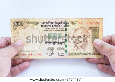 India rupee banknote - stock photo
