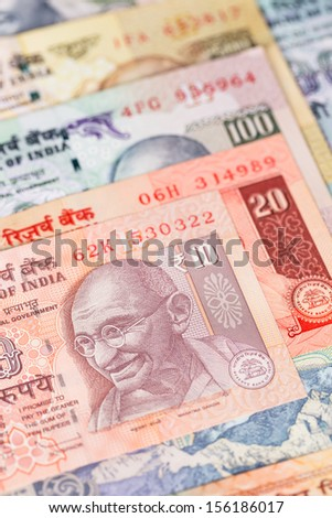 India rupee money banknote close-up