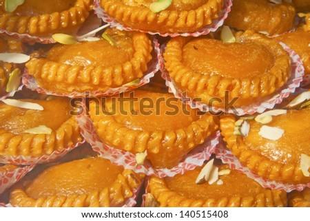 India sweets background - stock photo