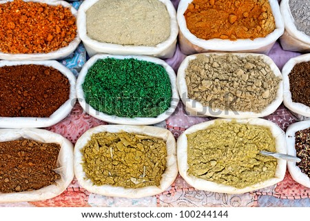 india traditional spices - stock photo