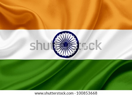 India waving flag - stock photo