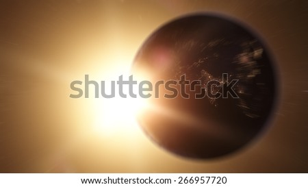 India zoom in from space (Elements of this image furnished by NASA) - stock photo
