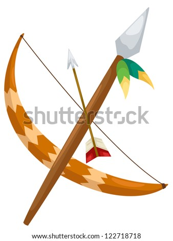 Indian archer.JPG (EPS vector version id 121534837,format also available in my portfolio) - stock photo