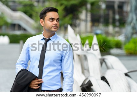 Indian businessman outdoors