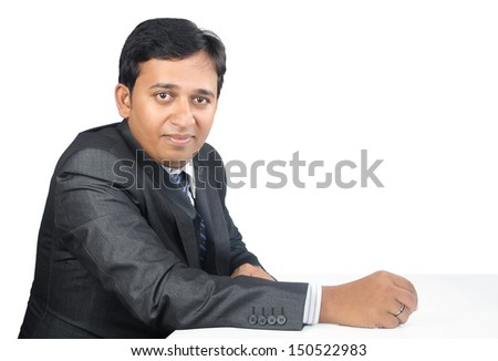 Indian Businessman Posing to Camera