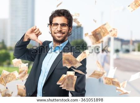 indian businessman proud concept - stock photo