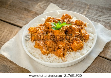 Indian butter chicken - stock photo