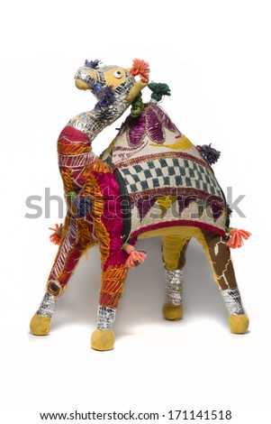 Indian Camel toy - stock photo