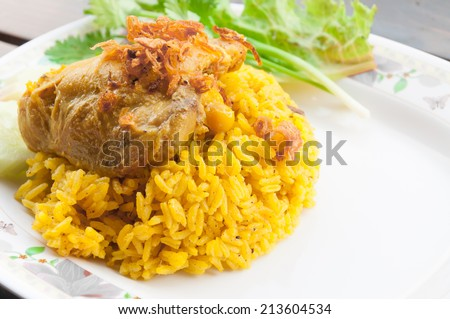 Indian chicken curry meal - stock photo