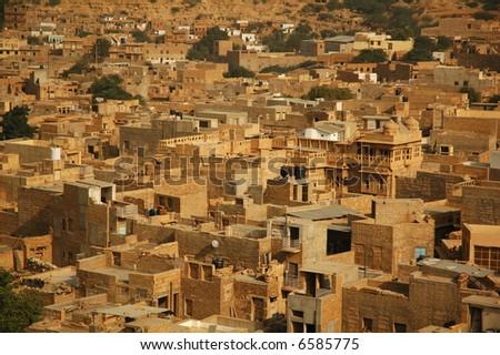 Indian city - stock photo