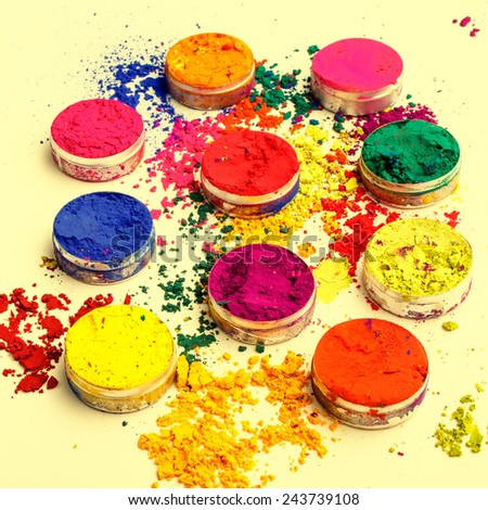 Indian colorful dyes - stock photo