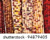 Indian corn background - stock photo