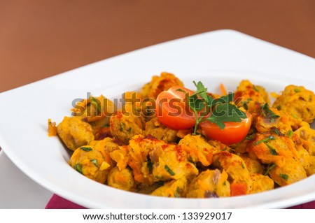 Indian cuisine - soya chunks