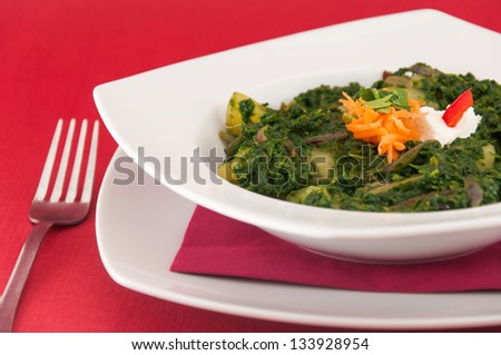Indian cuisine - spinach