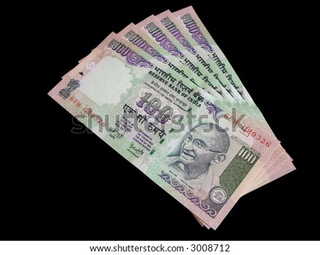 Rupee Note Vector One Hundred Rupee Notes