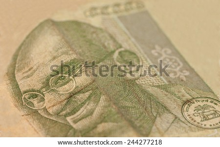 Indian Currency Rupee Notes - stock photo