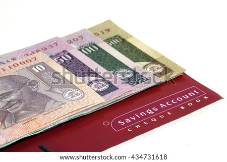 Indian currency-Savings account concept