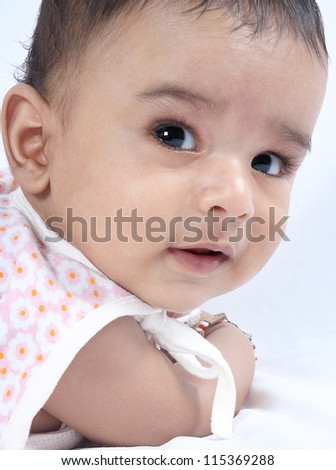 Indian Cute Baby Posing to Camera