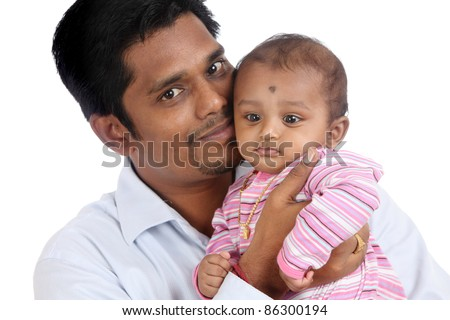Indian father and child
