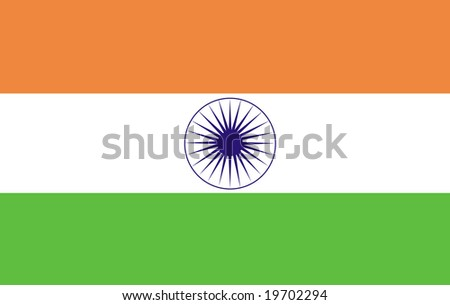 Indian Flag - stock photo