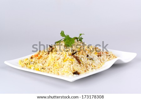 Indian food biryani rice or briyani rice, fresh cooked, indian dish. - stock photo