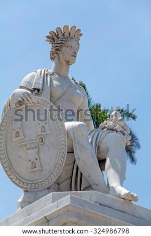 Indian fountain - symbol of Havana, Cuba - stock photo