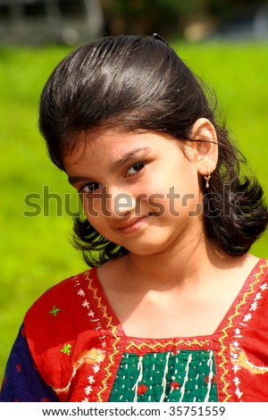 Indian girl with ethnic wear