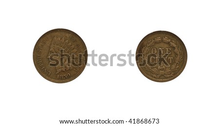 Indian head cent - stock photo
