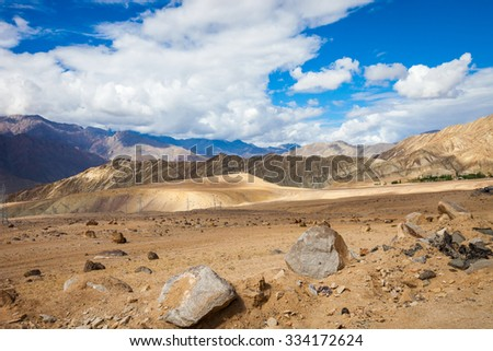 Indian Himalayas in the province of Ladakh