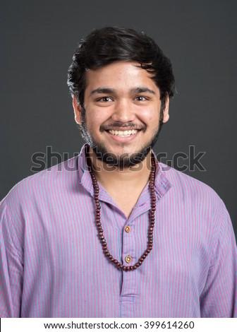 Indian Hindu man in traditional costume, Mumbai, Maharashtra, India, Southeast Asia - stock photo