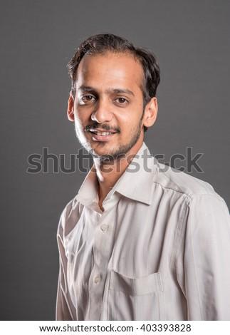Indian Hindu 26 year old young man portrait, Mumbai, Maharashtra, India, Southeast Asia - stock photo