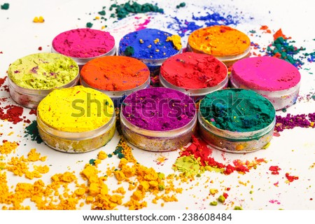 Indian Holi festival colours - stock photo