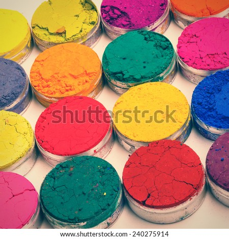 Indian Holi festival colours pattern - stock photo