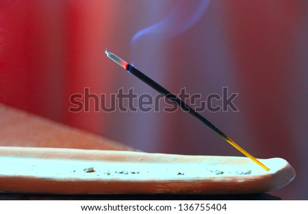 Indian incense stick . - stock photo