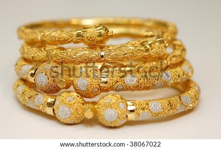 indian jewellery - stock photo