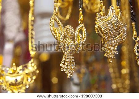 Indian jewelry Store in Delhi  - stock photo