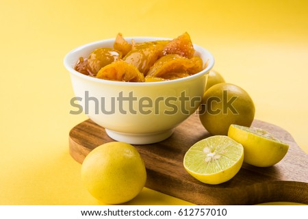 Indian lemon pickle or nimbu ka achar / loncha in hindi