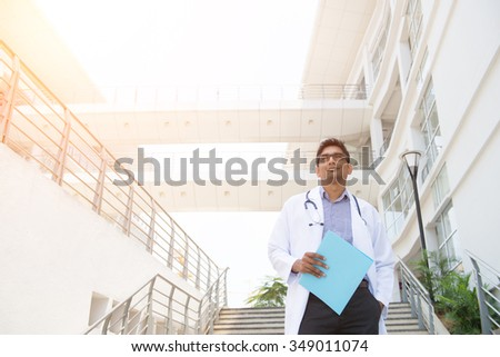 indian male doctor - stock photo