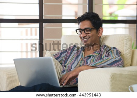 indian male using laptop