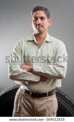 Indian man portrait, Mumbai, Maharashtra, India, Southeast Asia - stock photo