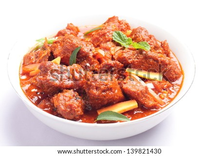 Indian meat curry. - stock photo